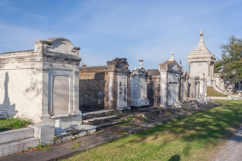 Classical colonial French cemetery in New Orleans, Louisiana royalty free stock photography