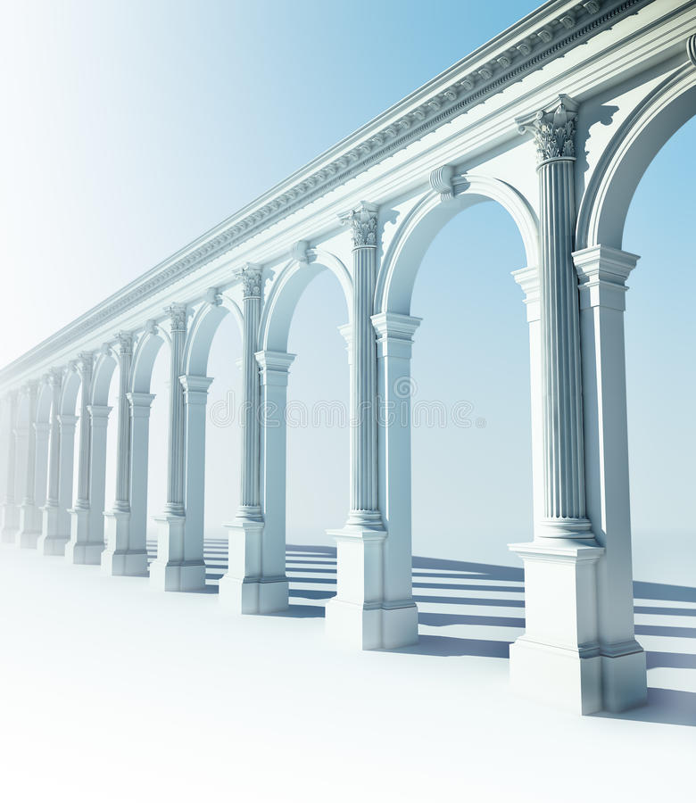 Download Classical colonnade stock illustration. Image of column - 11506846