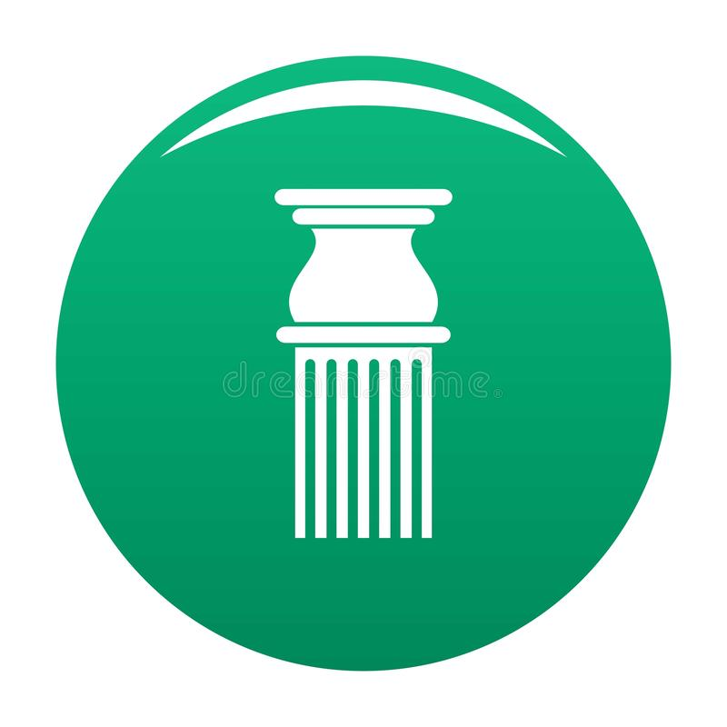 Classical column icon vector green royalty free illustration
