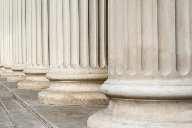 Classical columns close up architecture royalty free stock photos