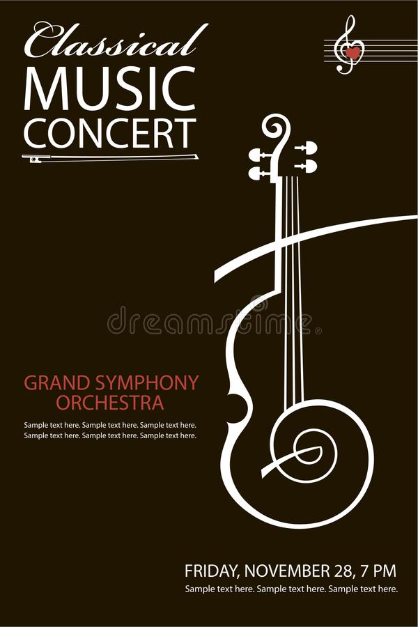 Classical concert poster stock illustration