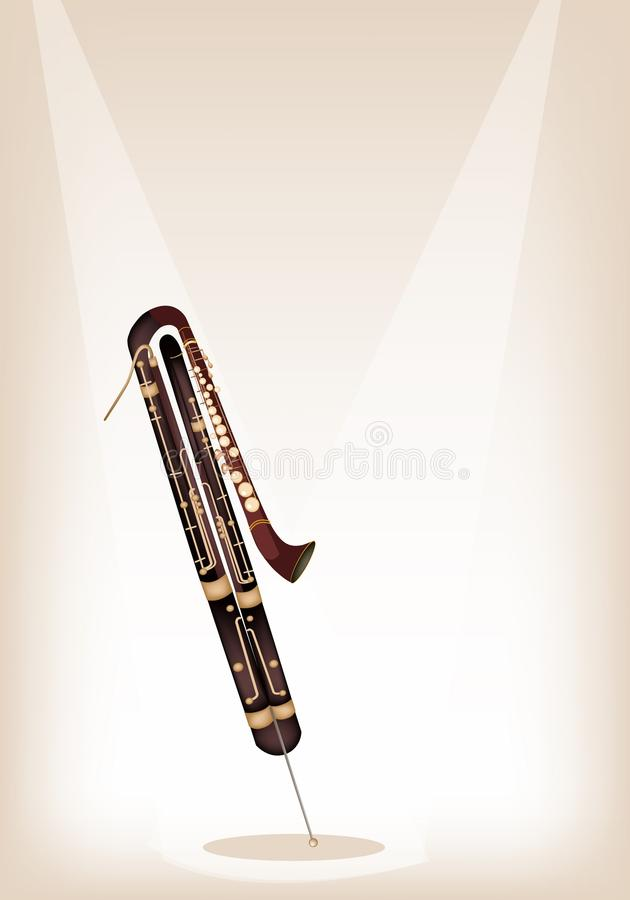 Download A Classical Contrabassoon On Brown Stage Backgroun Stock Vector - Illustration: 31785431