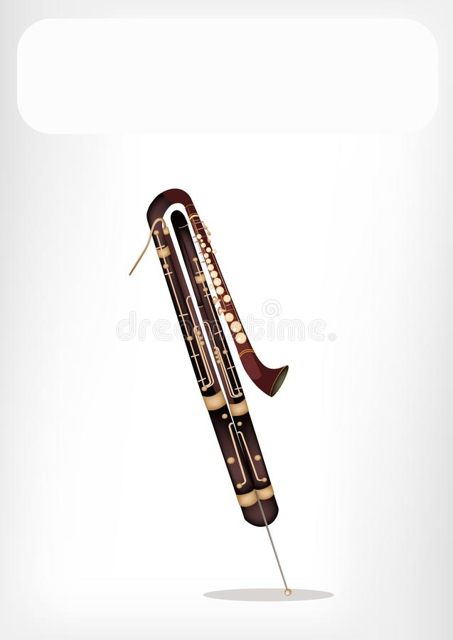 Download A Classical Contrabassoon With A White Banner Stock Vector - Image: 31785447