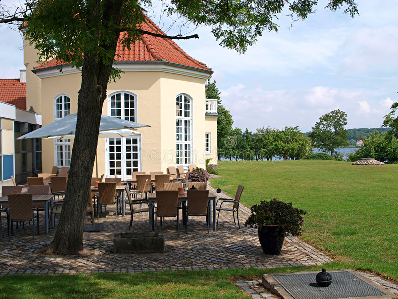 Classical country side hotel. Funen Denmark stock photo