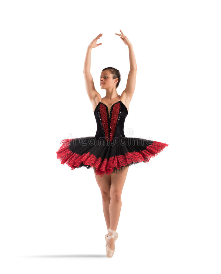 Classical dancer pose royalty free stock photos