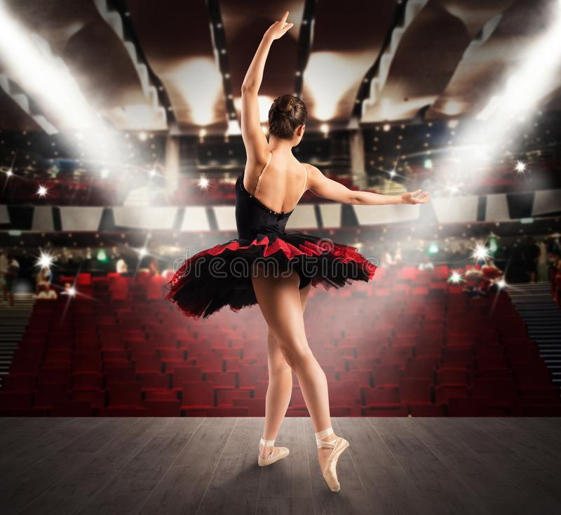 Classical dancer at the theater stock photography
