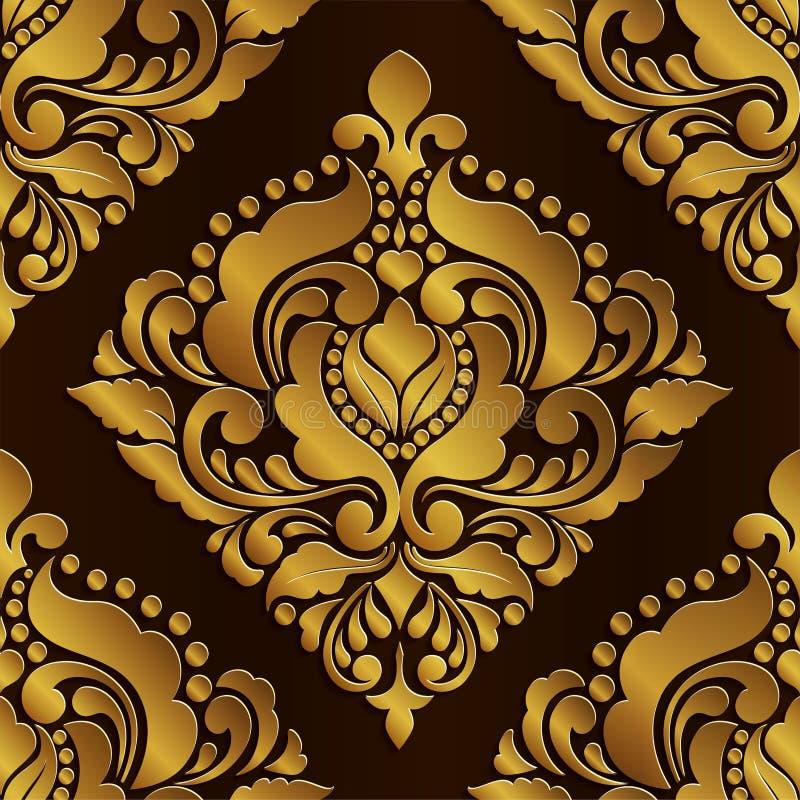Royal art vintage frame and border, Gold photo frame with corner Thailand line floral for picture, Vector design decoration on pat vector illustration
