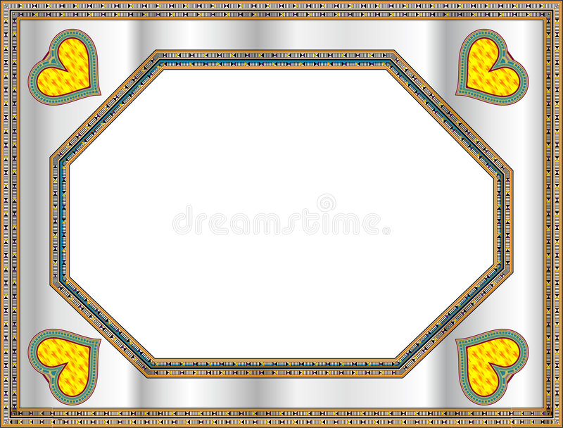 Download Classical Frame With Heart Shape Stock Vector - Image: 8312278