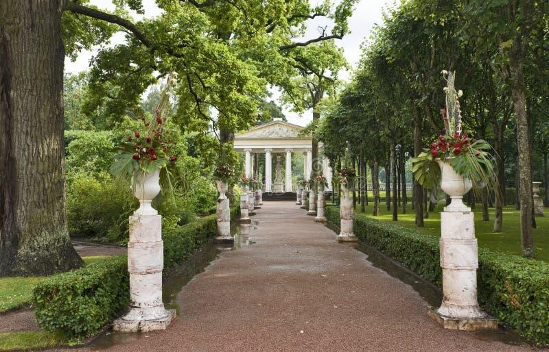 Classical garden stock image