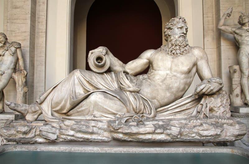 Sculpture of Neptun in Vatican museum. Classical Greek marble sculpture of Neptunin in Vatican museum, Rome, Italy stock image