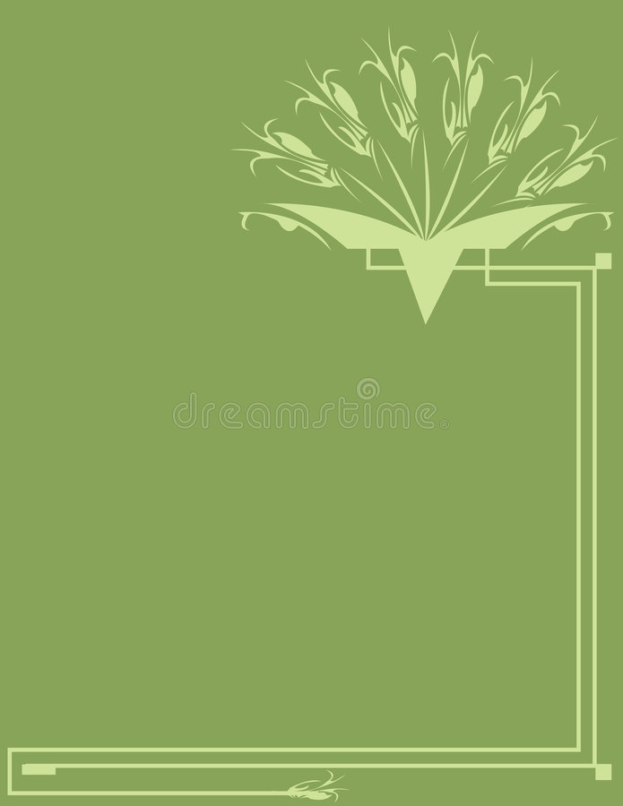 Classical green background vector illustration