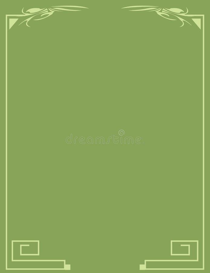 Classical green border backgro royalty free illustration