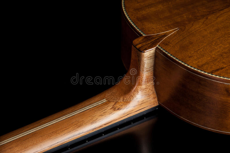 Classical guitar acoustic made by luthier Luciano Queiroz. Brazil stock photography