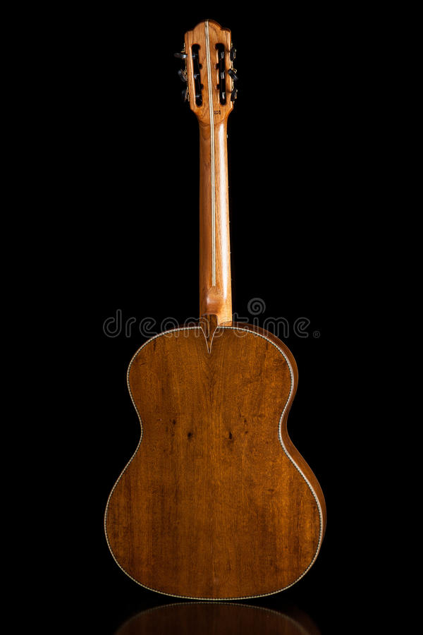 Classical guitar acoustic made by luthier Luciano Queiroz. Brazil stock photo