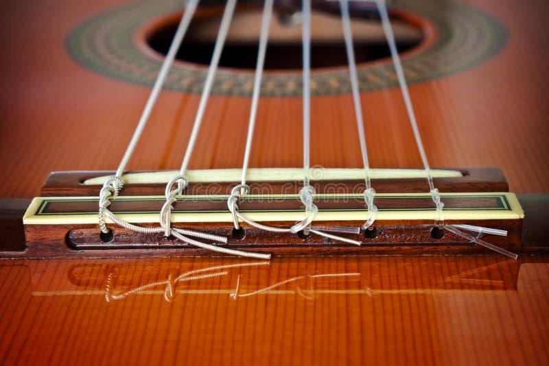 Download Classical Guitar/Bridge stock image. Image of spruce - 19793539