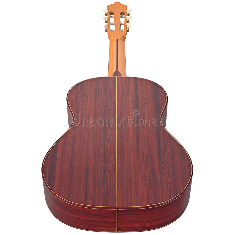 Classical guitar music instrument vector illustration