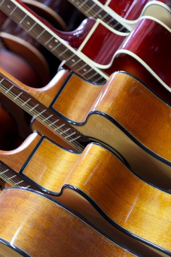 Classical guitars royalty free stock photos