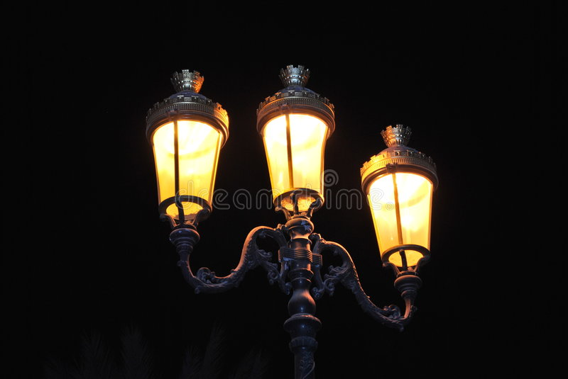 Download Classical Lamp Post stock image. Image of yellow, post - 7046635