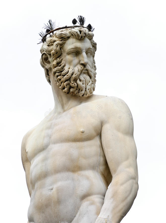 Classical marble sculpture of Neptune royalty free stock photos