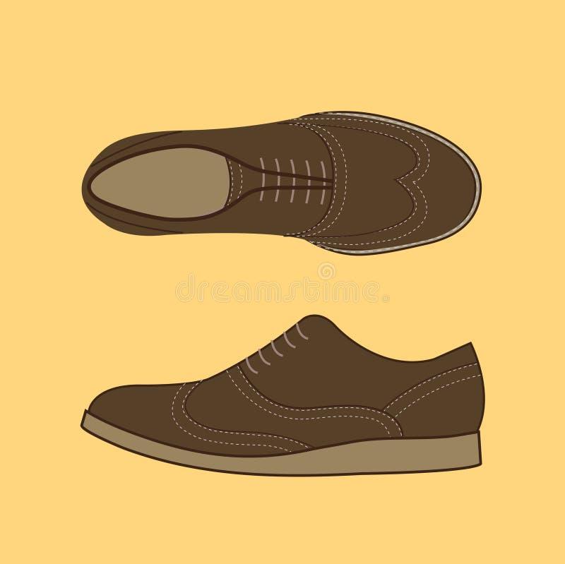 Classical Men Shoes stock illustration