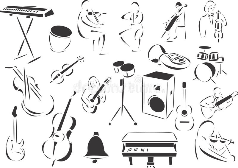 Download Classical Music stock vector. Image of smile, hairless - 6890148