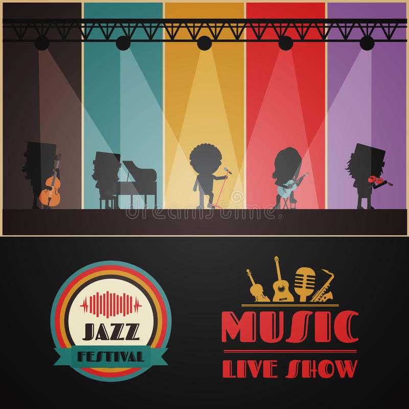 Classical music band vector illustration
