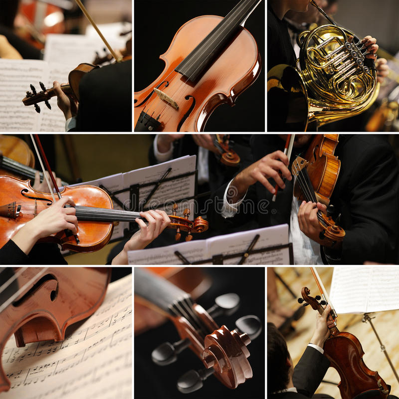 Classical music collage stock photography