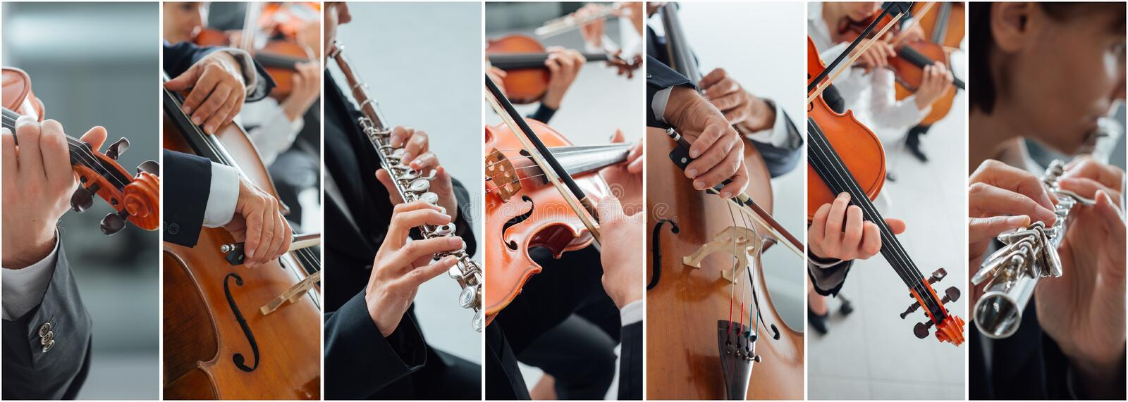 Classical Music Collage stock photo