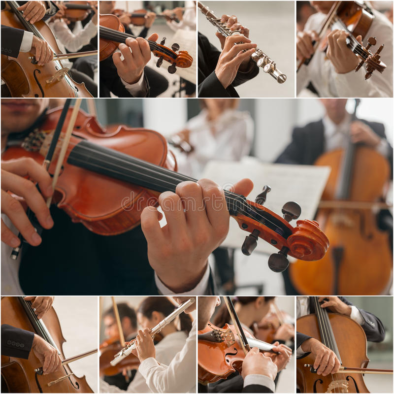 Classical Music Collage royalty free stock photos