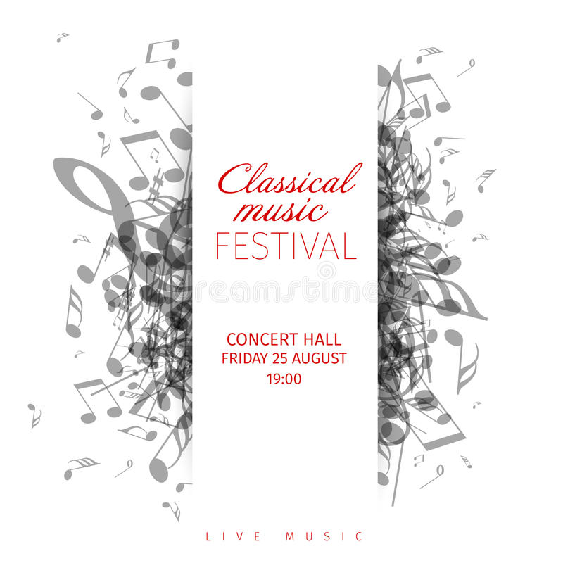 Classical Music Concert Poster Template Stock Vector - Illustration ...