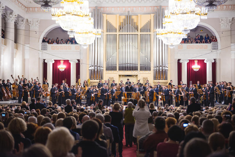 Classical music concert. stock photo