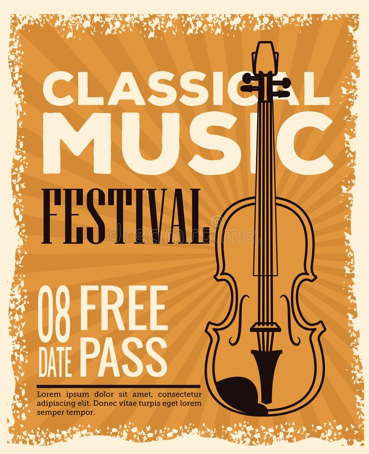 Classical music festival flyer. Icon vector illustration graphic design royalty free illustration
