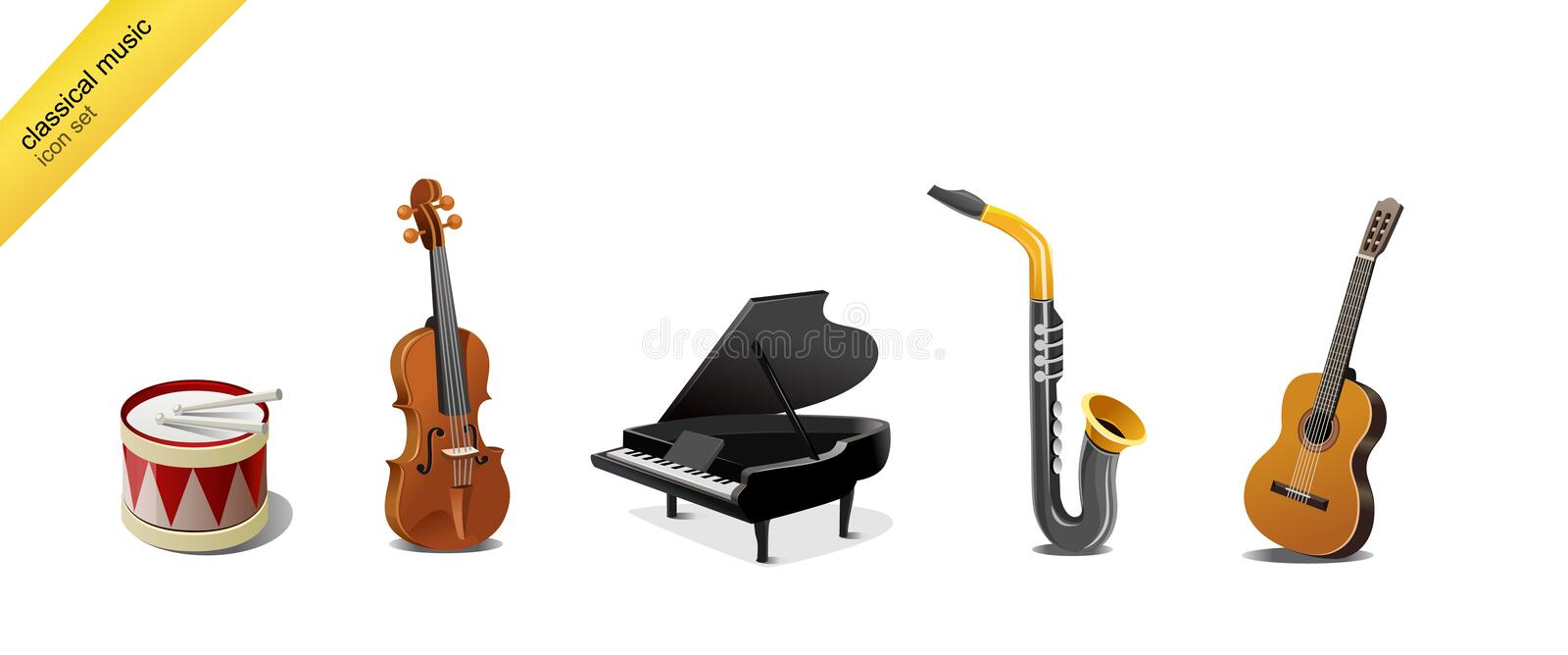 Download Classical Music Instruments Stock Vector - Image: 8298998