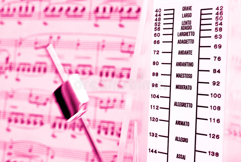 Classical music, metronome royalty free stock photography
