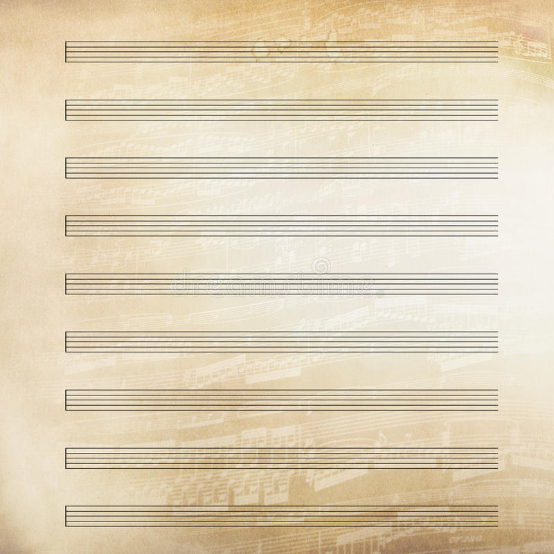 Classical music sheet paper royalty free illustration