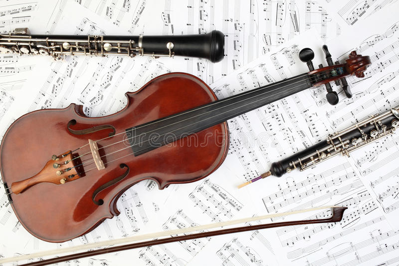 Classical Musical Instruments Notes Royalty Free Stock ...