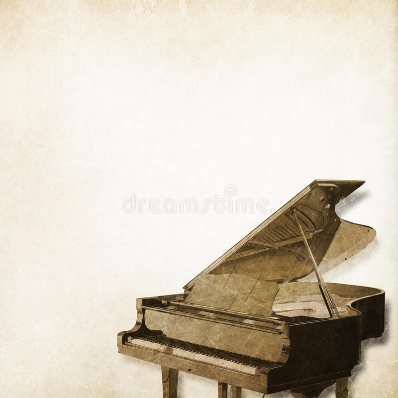 Classical piano background stock illustration