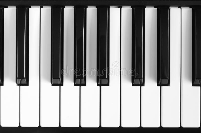 Classical piano black and white keybord background. Classical piano black and white keybord background royalty free stock photos