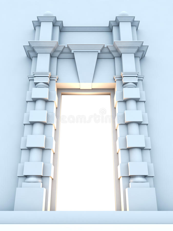 Download Classical Portal With Light Inside. Stock Illustration - Illustration: 17163464