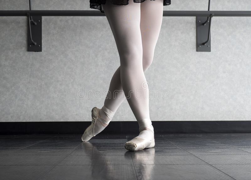 Classical Position of a Ballet dancer stock image