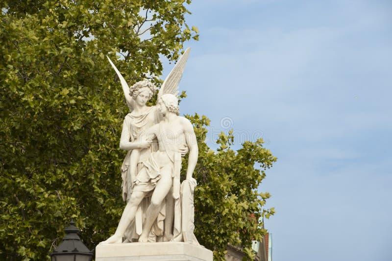 Angel on Bridge in Berlin stock images