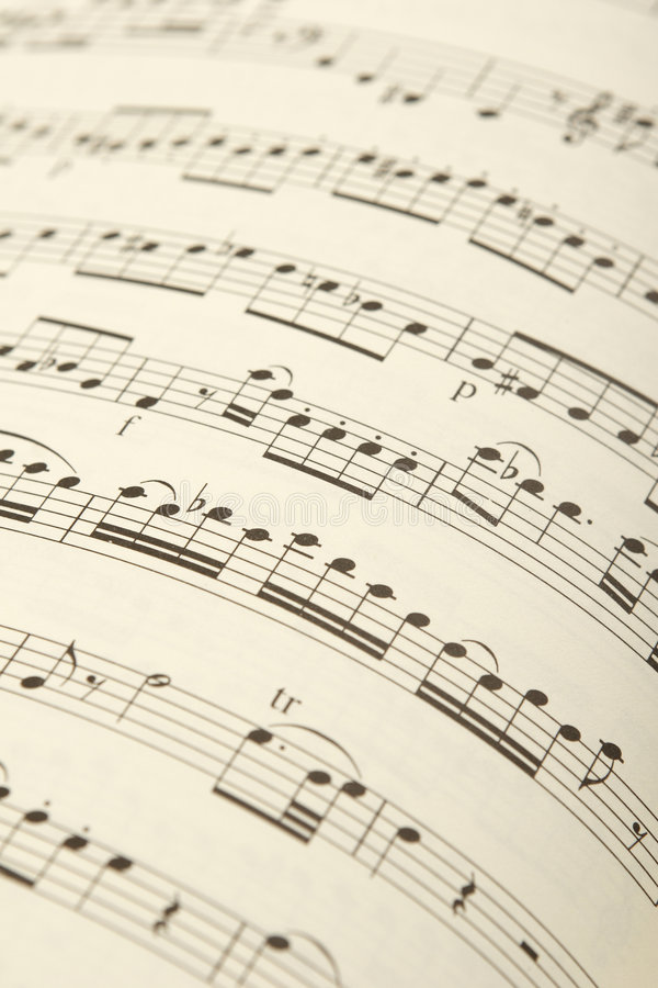 Free Classical Sheet Music Royalty Free Stock Photo - 1652195