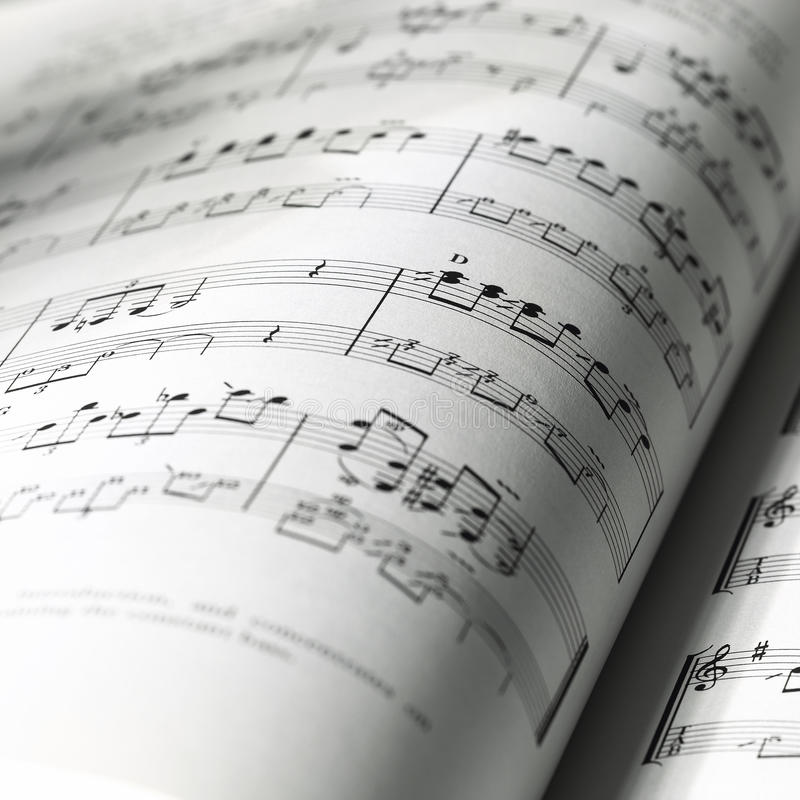 Download Classical sheet music stock image. Image of black, detail - 20293335