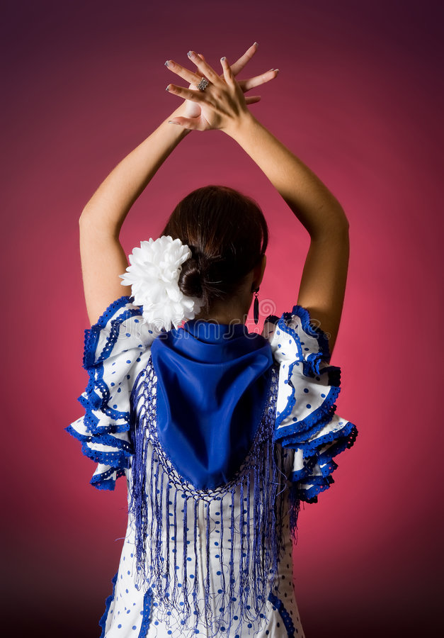 Classical spanish dance stock photography
