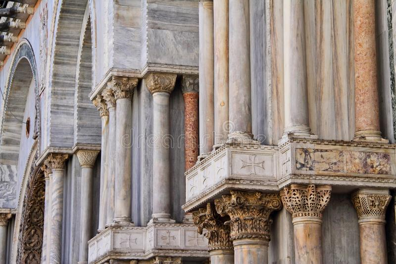 Church Columns. Classical stone and marble Christian church columns royalty free stock images