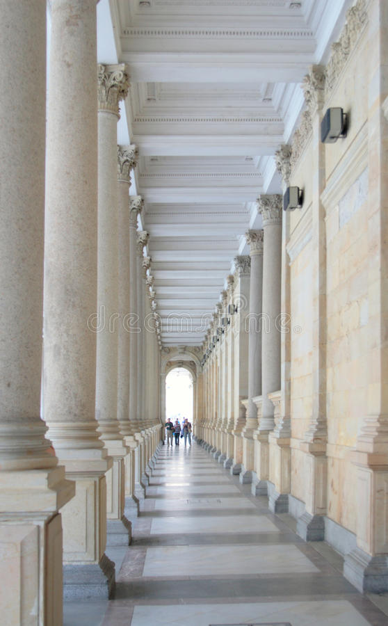 Download Classical style colonnade. stock photo. Image of marble - 26006578