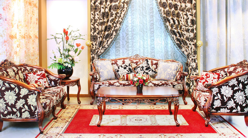 Download Classical Stylish Armchairs Sitting Room Stock Photo - Image of table, household: 5742428