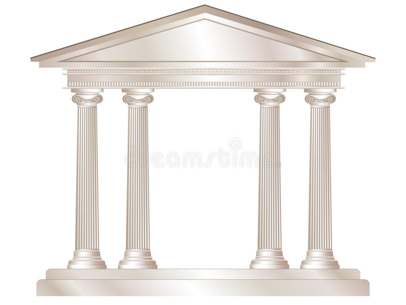 Classical temple. An illustration of a classical style white marble temple vector illustration