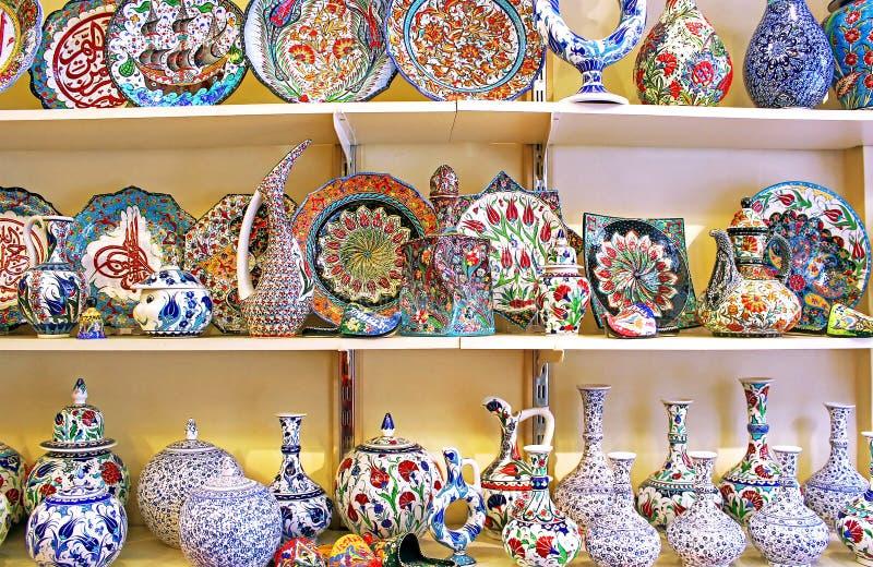 Classical Turkish ceramics stock images