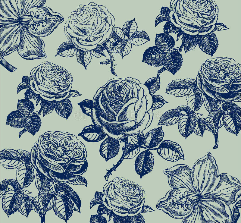 Free Classical Wall-paper With A Flower Pattern. Stock Photo - 9470730